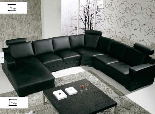 canape panoramique cuir salon noumea canape cuir 6 places 306x185x155. Black Bedroom Furniture Sets. Home Design Ideas