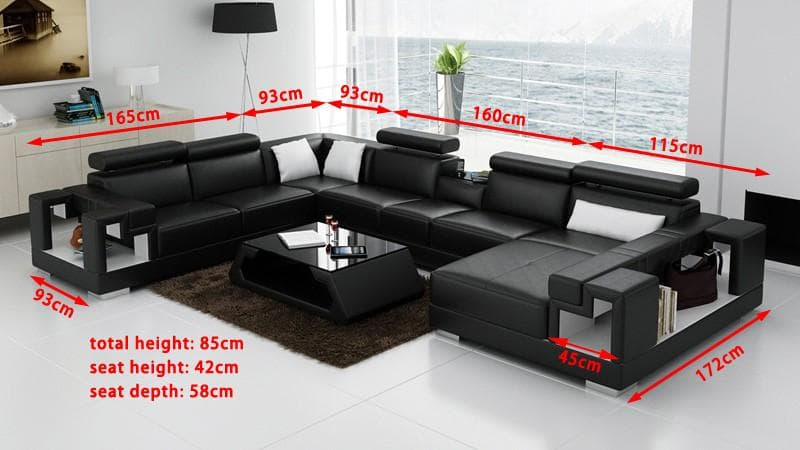 canape panoramique cuir salon rome canape d 39 angle en cuir 7 personnes. Black Bedroom Furniture Sets. Home Design Ideas