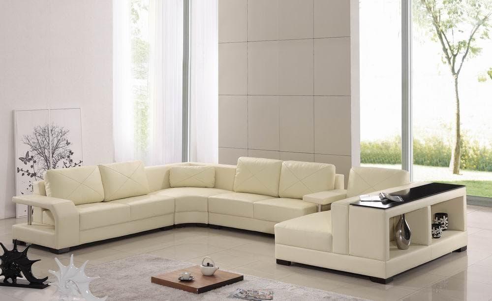 Canape panoramique cuir salon serina canape cuir 6 places 285x395x175 - Canape panoramique 10 places ...