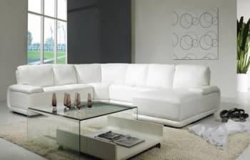 Canape panoramique cuir salon presentation des - Canape 6 places cuir ...