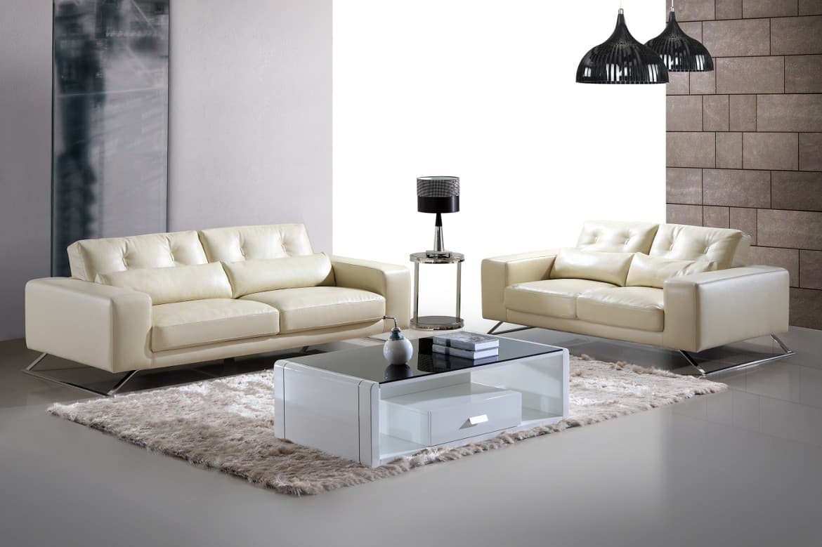 ensemble canape cuir salon kena 3 2 canape cuir 5 places 220x107 180x107. Black Bedroom Furniture Sets. Home Design Ideas