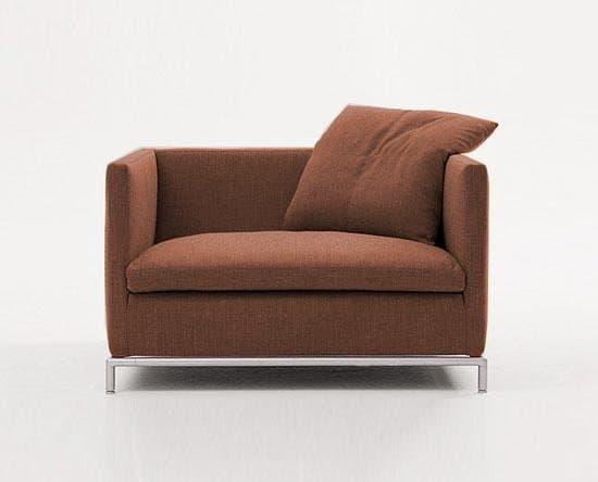 Salon fauteuil tissus firm 36 marron fauteuil tissu marron - Fauteuil salon tissu ...
