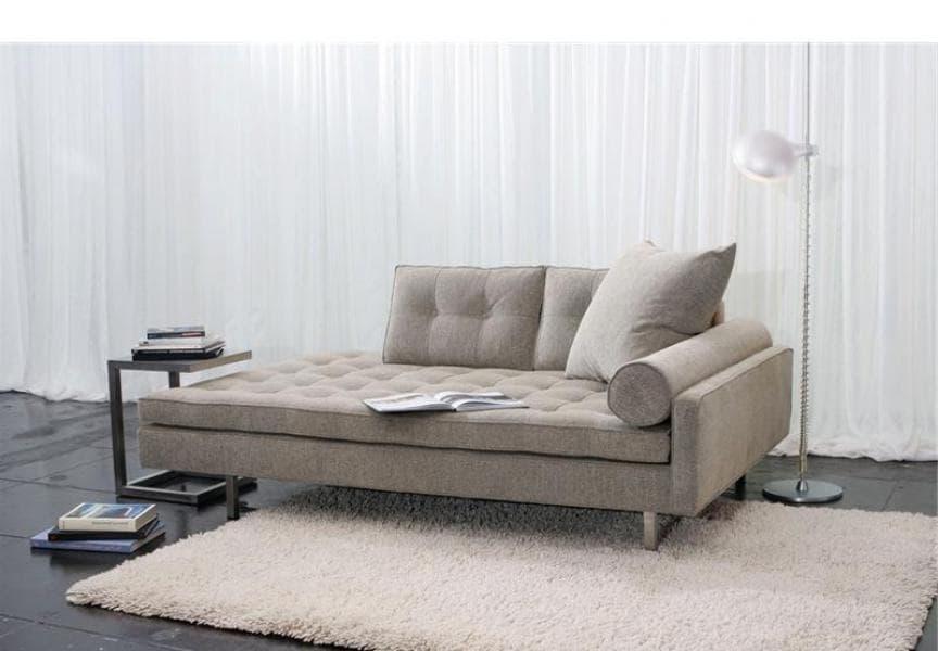 Meridienne salon roma canape lit tissu photo 182x89x84 for Meridienne salon