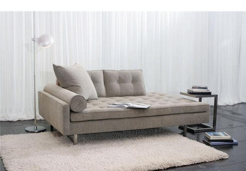 Meridienne salon roma canape lit tissu 182x89x84 for Salon meridienne
