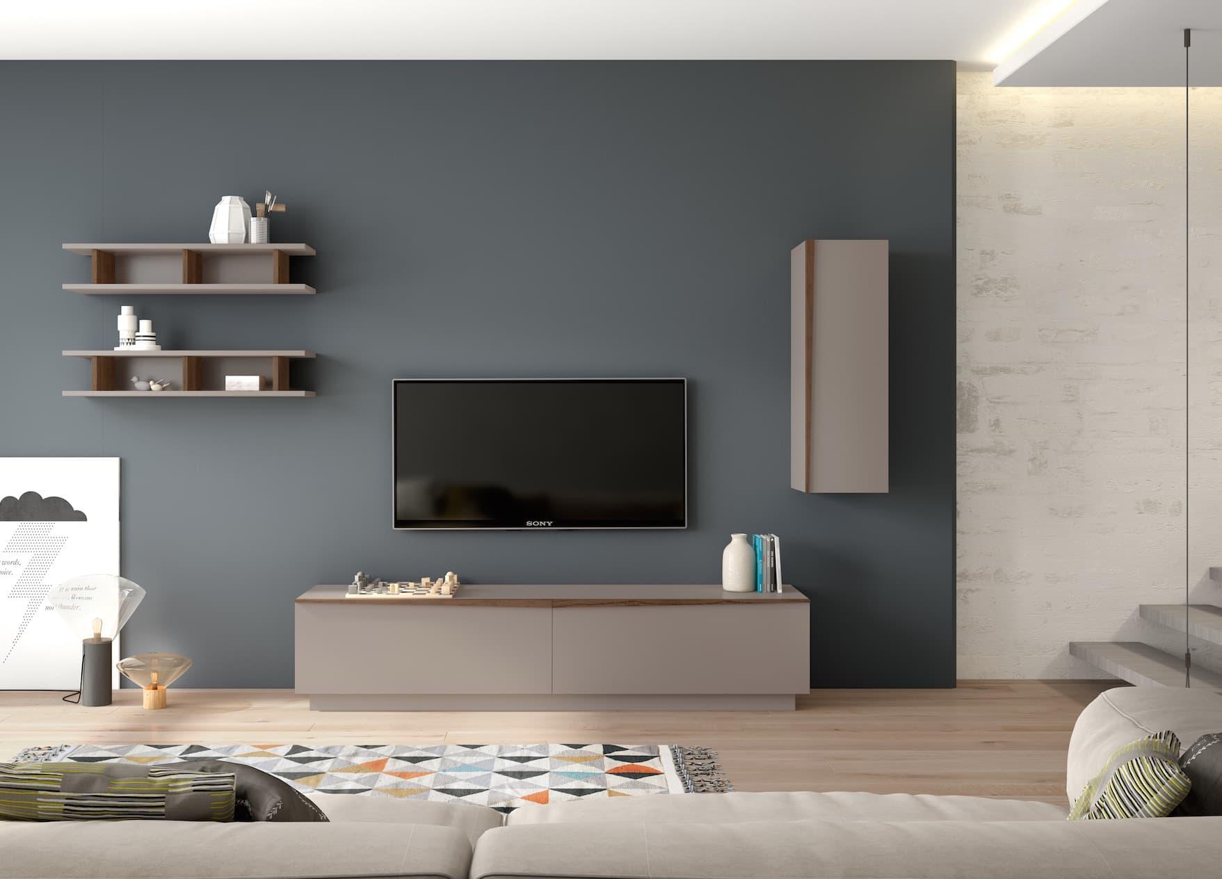 Salon meuble tv milan meuble tv avec deux portes for Meuble deux portes