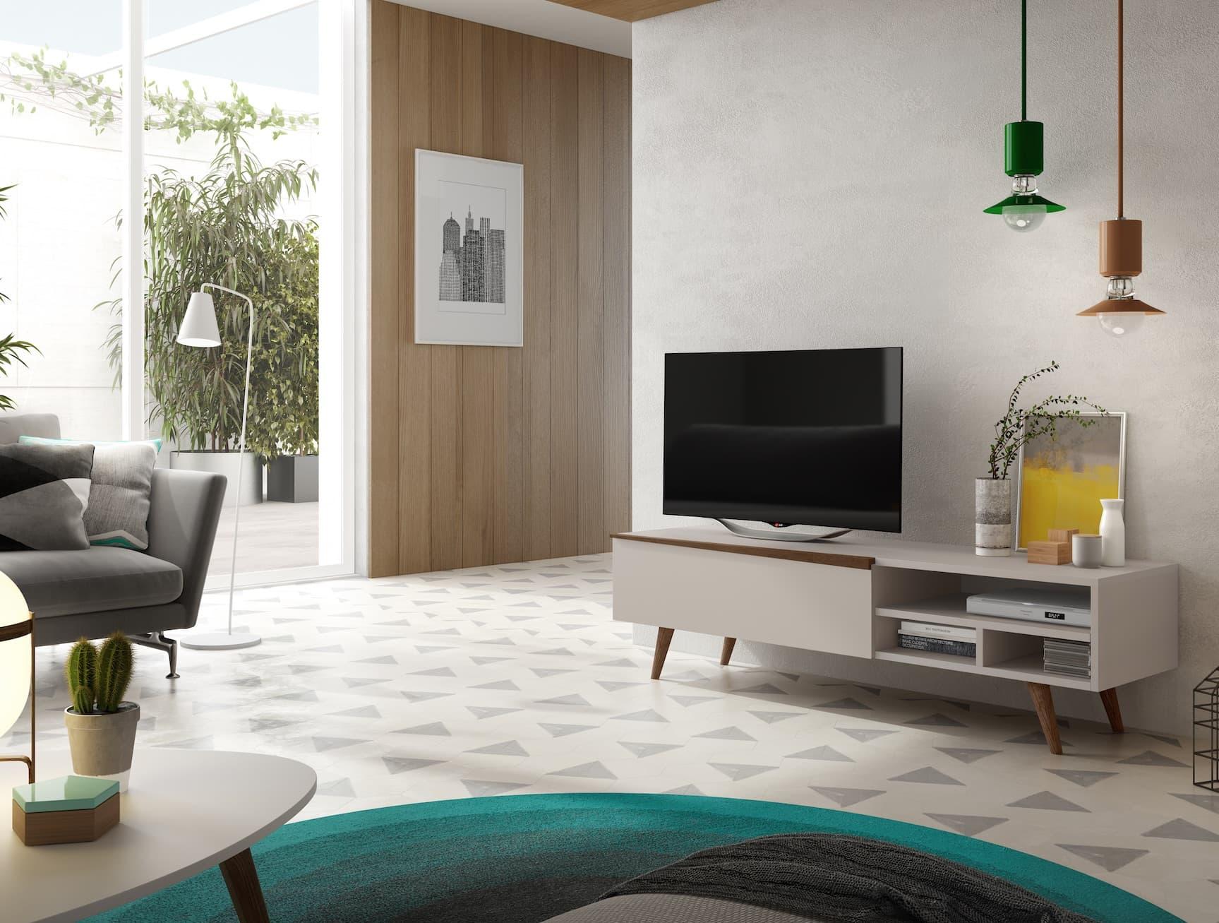 salon meuble tv paris meuble tv avec tag res et une porte horizontal abattant. Black Bedroom Furniture Sets. Home Design Ideas