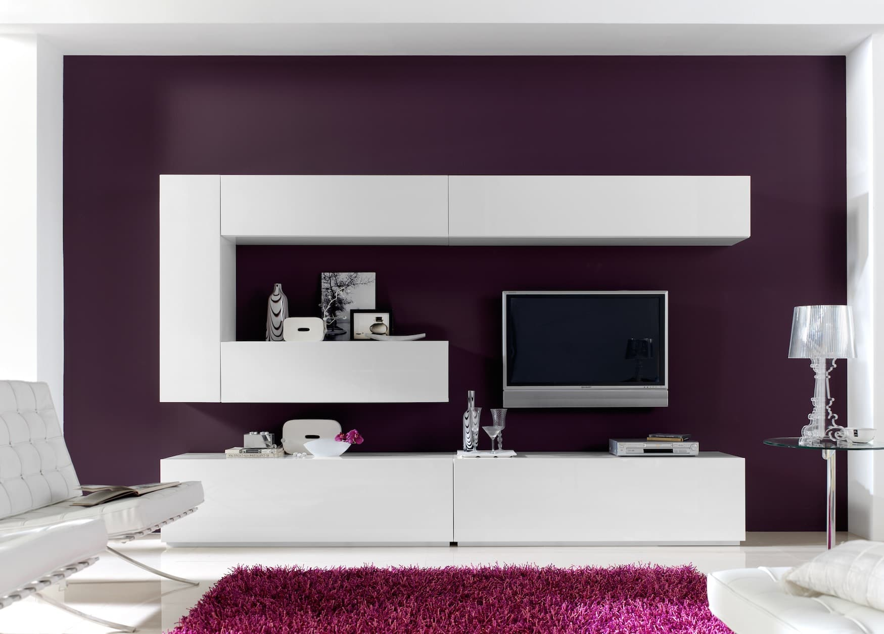salon meuble tv turin meuble tv blanc pour votre salon. Black Bedroom Furniture Sets. Home Design Ideas