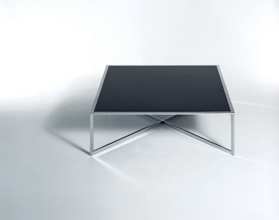 salon table basse cube 1 table basse metal verre 100x100x30. Black Bedroom Furniture Sets. Home Design Ideas
