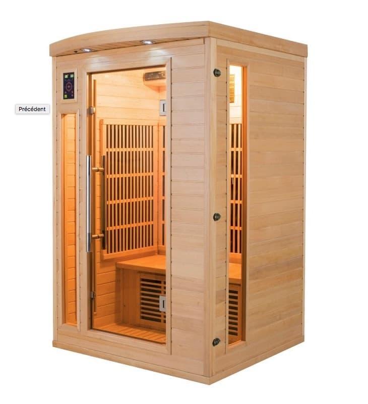 infrarouge sauna apollon 2 places sauna infrarouge apollon 2 places 120x105x190cm. Black Bedroom Furniture Sets. Home Design Ideas