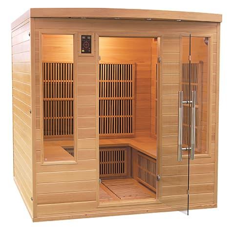 sauna infrarouge apollon club sauna infrarouge apollon club 4 5 places 185x185x190cm. Black Bedroom Furniture Sets. Home Design Ideas