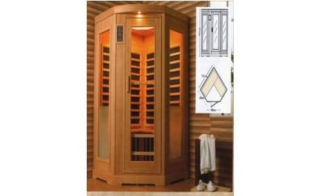 sauna infrarouge lathi sauna infrarouge 131x68x88x195. Black Bedroom Furniture Sets. Home Design Ideas