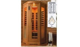 infrarouge sauna lathi sauna infrarouge 131x68x88x195. Black Bedroom Furniture Sets. Home Design Ideas