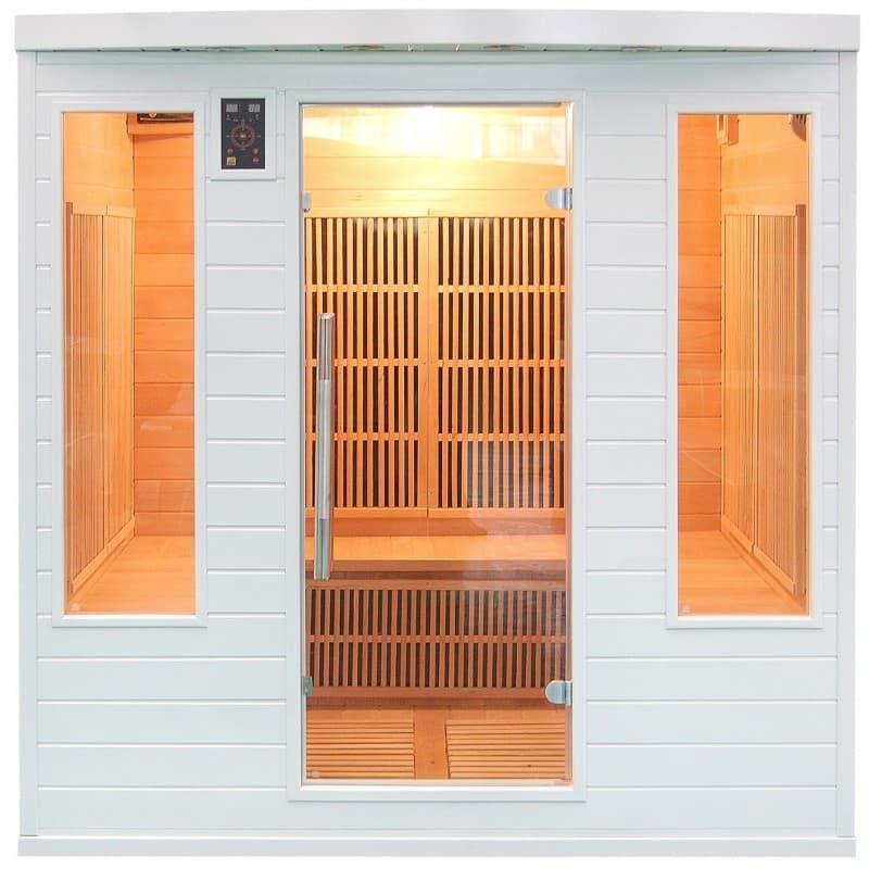 sauna infrarouge soleil club 4 5 sauna infrarouge soleil blanc club 4 5 places 185x185x190cm. Black Bedroom Furniture Sets. Home Design Ideas
