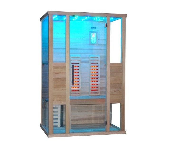 Traditionnel sauna combine 2 sauna combine 130x100x199 - Sauna traditionnel pas cher ...