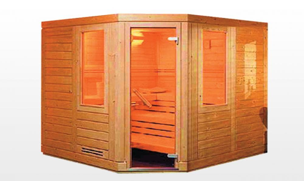 Sauna traditionnel kajaani sauna traditionnel 200x200x200 pour 4 5 pers - Sauna traditionnel pas cher ...