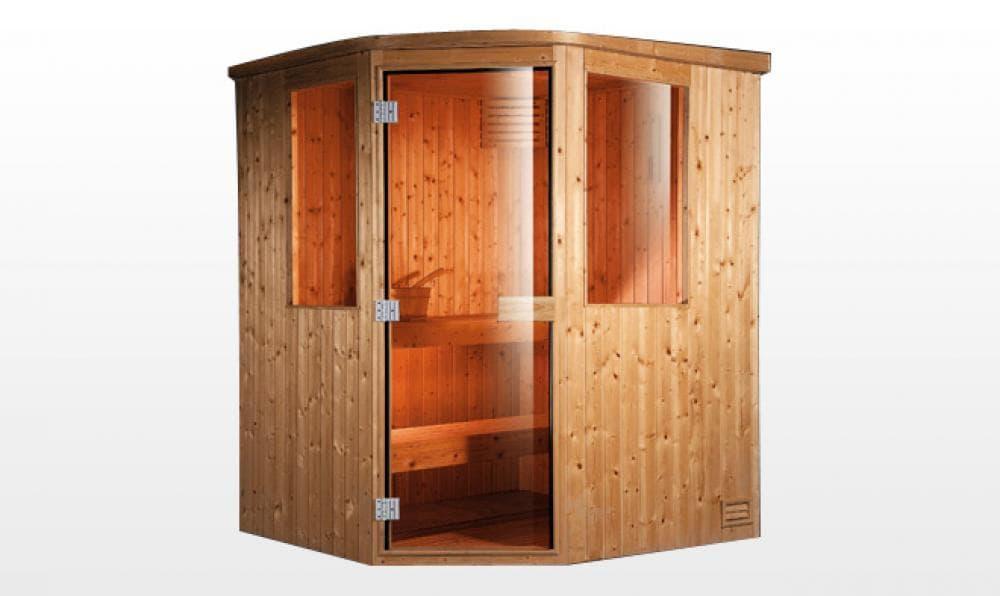 sauna traditionnel lieksa sauna traditionnel 150x150x200 pour 3 personnes. Black Bedroom Furniture Sets. Home Design Ideas