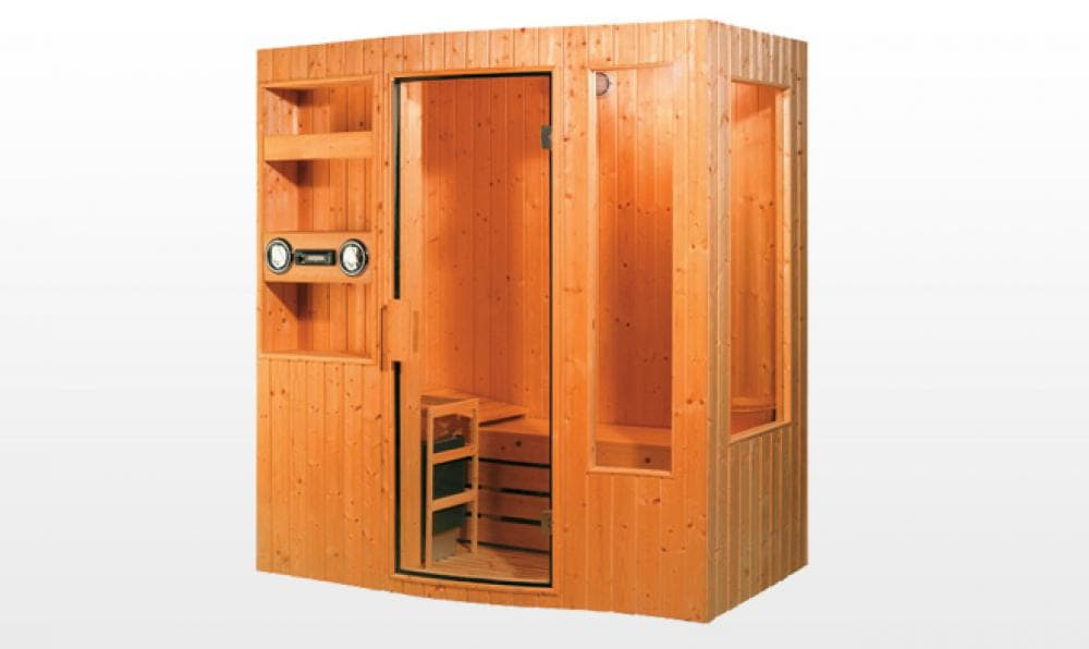 Sauna traditionnel lohja sauna traditionnel 180x110x200 pour 3 4 personnes - Sauna traditionnel pas cher ...