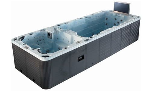 Spa de nage nisia spa de nage a contre courant 585x220x130 for Piscine a contre courant prix