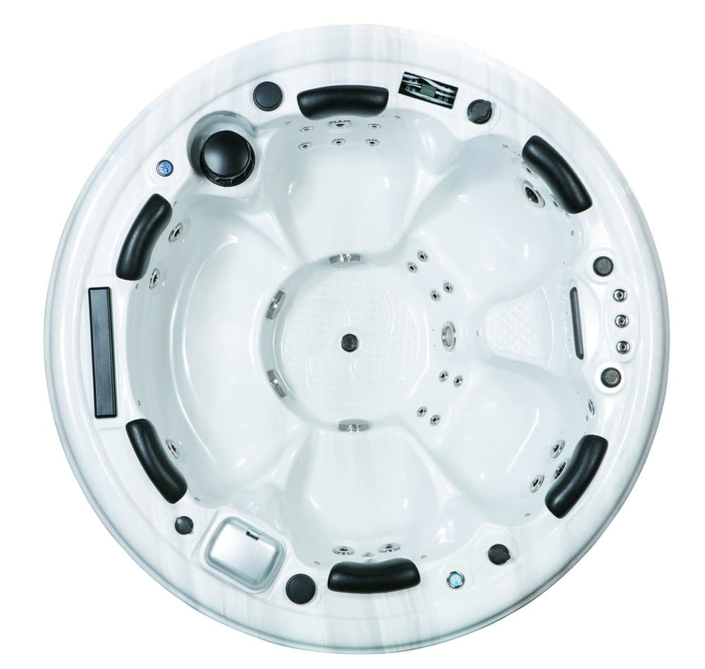 Spa personnalisable milan spa rond balboa system - Jacuzzi exterieur rond ...