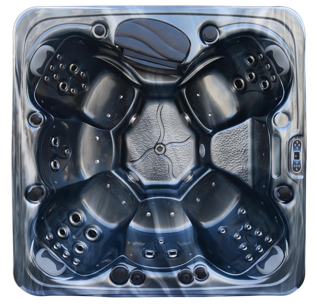 spa vendom mykonos 2 spa 6 personnes gris anthracite. Black Bedroom Furniture Sets. Home Design Ideas