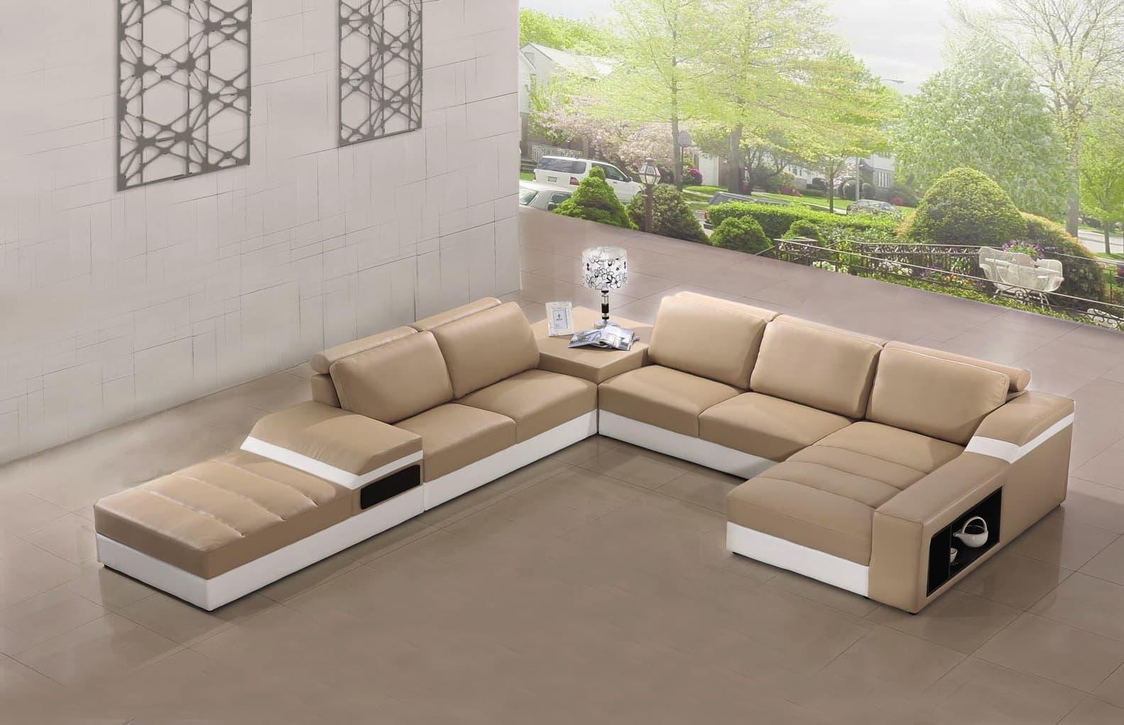 vente flash evenementiel elegancia canap cuir 6 places 185x375x415x95. Black Bedroom Furniture Sets. Home Design Ideas