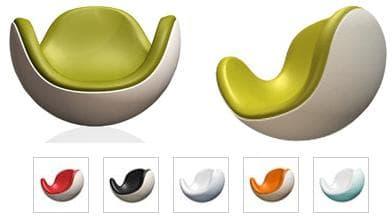 Meuble mobilier design kiny blanc fauteuil boule - Fauteuil boule pas cher ...
