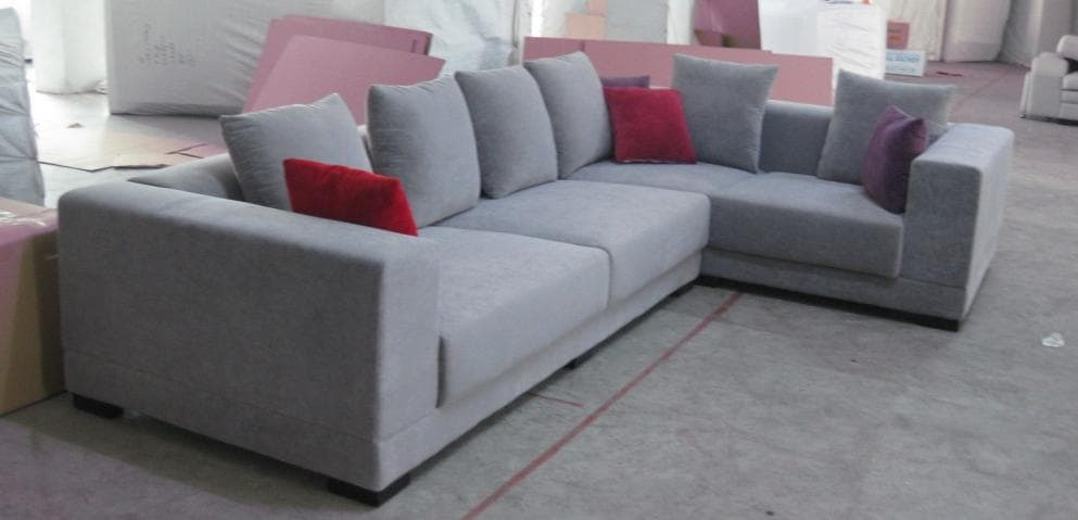 vente flash evenementiel olanda canap cuir gris lavande 4 5 places 335x210x110. Black Bedroom Furniture Sets. Home Design Ideas